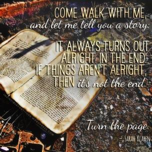 ...turn the page. (Sarah Klaren)