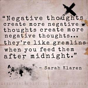Negative Thoughts - Sarah Klaren